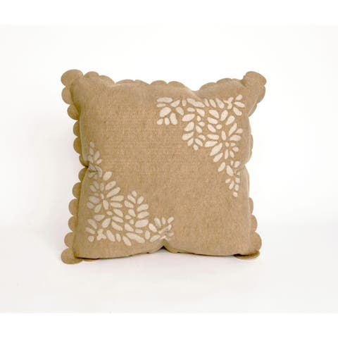 Silhouette Leaf 20-inch Throw Pillow