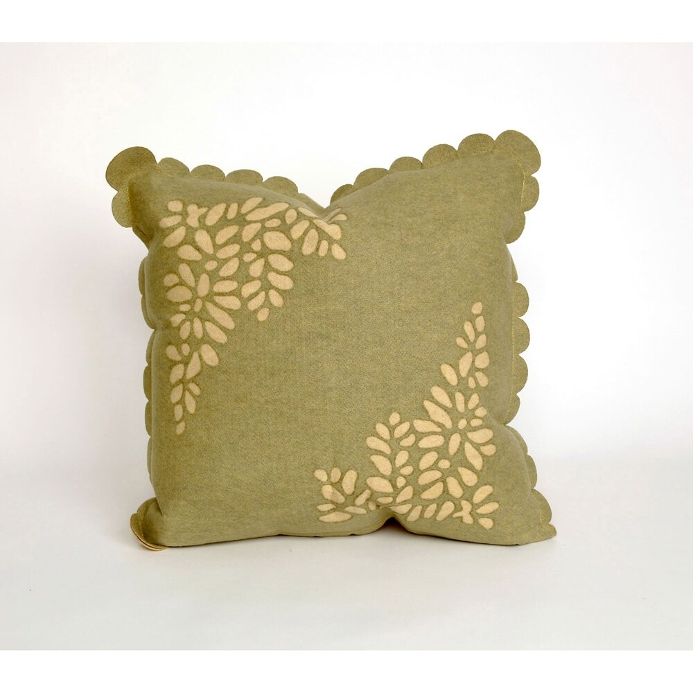 Shop Silhouette Leaf 20-inch Throw Pillow - Overstock - 10707556