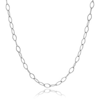 Journee Collection Sterling Silver 2 mm Open Link Chain 18 Inches