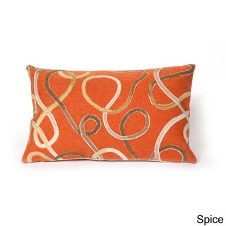 Lasso Throw Pillow (12 x 20 - Orange - Casual/Modern & Contemporary/Patterned)