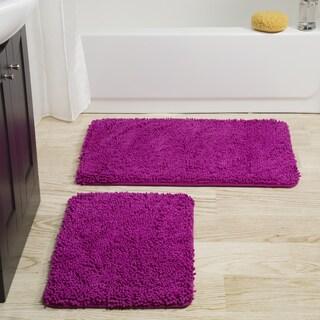 Windsor Home 2-piece Memory Foam Shag Bath Mat