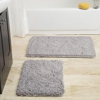 Windsor Home 2-piece Memory Foam Shag Bath Mat (More options available)
