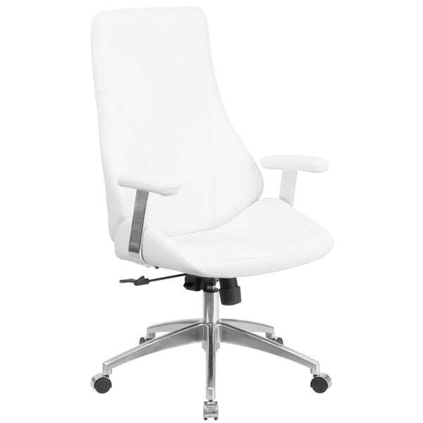 High Back LeatherSoft Smooth Upholstered Executive Swivel Office Chair