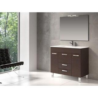 """Eviva Venus® 36"""" Wenge Modern Bathroom Vanity Wall Mount with Porcelain Sink"""