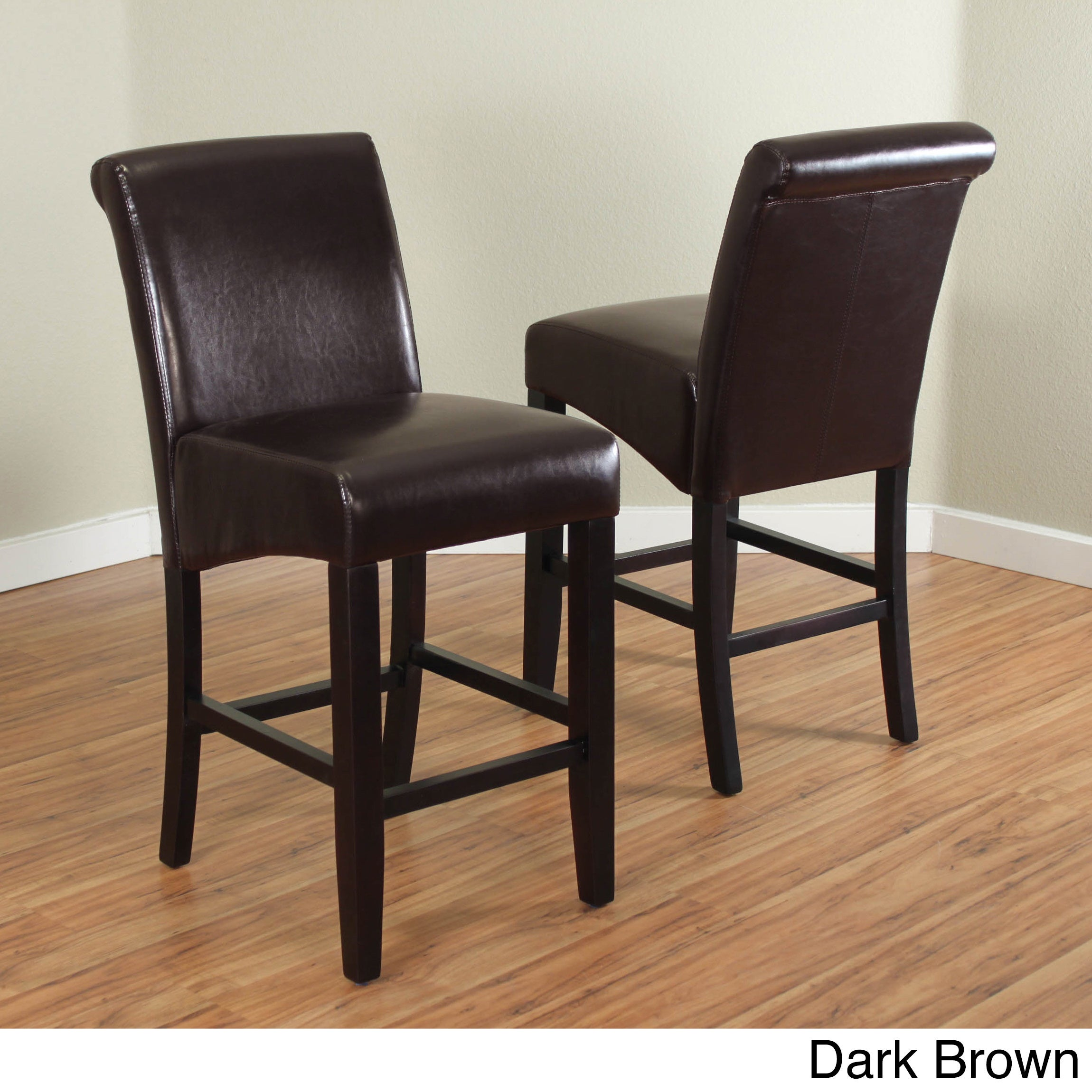 online store c7813 19377 Milan Faux Leather Counter Stools (Set of 2)