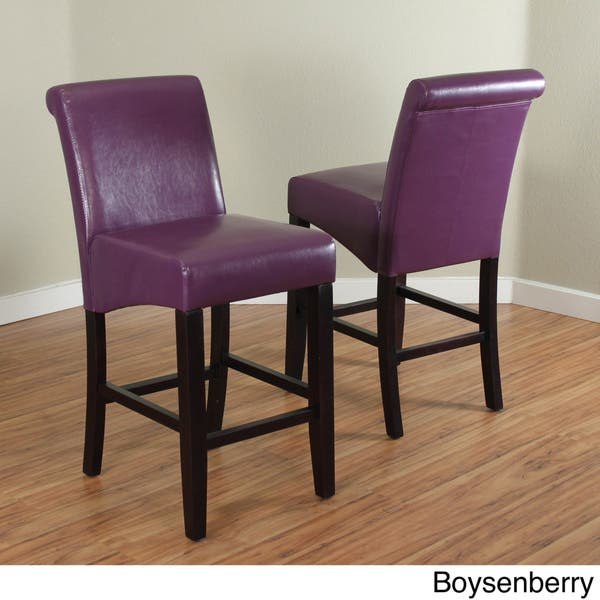 Remarkable Shop Milan Faux Leather Counter Stools Set Of 2 Free Andrewgaddart Wooden Chair Designs For Living Room Andrewgaddartcom