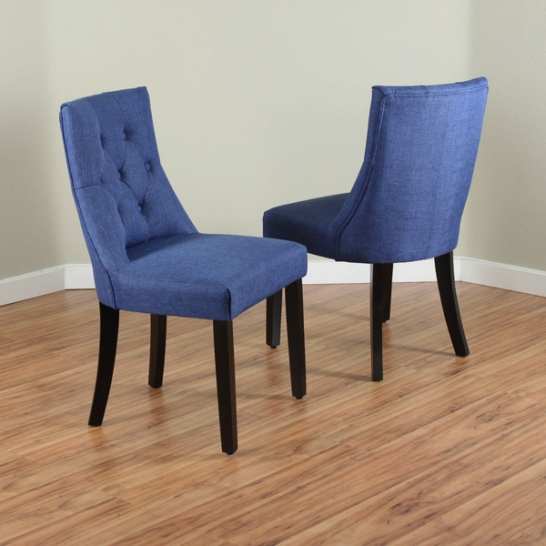 blue dining chairs bellcrest upholstered dining chairs set of 2 free 30126