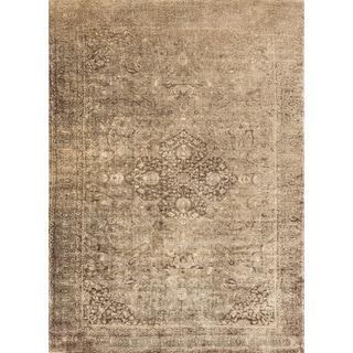 Francis Sand/ Dark Brown Rug (9'2 x 12'2)