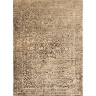 Francis Sand/ Dark Brown Rug (7'6 x 10'5)