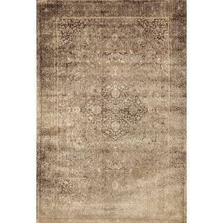 Francis Sand/ Dark Brown Rug (5'0 x 7'6)