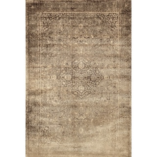 Francis Sand/ Dark Brown Rug (3'3 x 5'3)