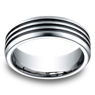 Men's 7.5MM Cobalt Ring with Three Blackened Channels https://ak1.ostkcdn.com/images/products/10707650/P17767036.jpg?impolicy=medium