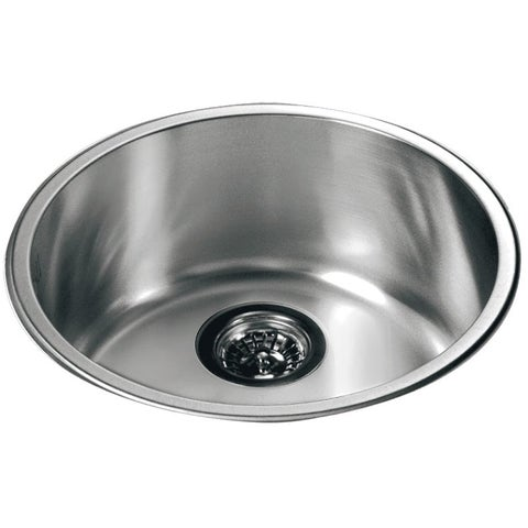 Dawn® Stainless Steel Round Top Mount Single Bowl Bar Sink