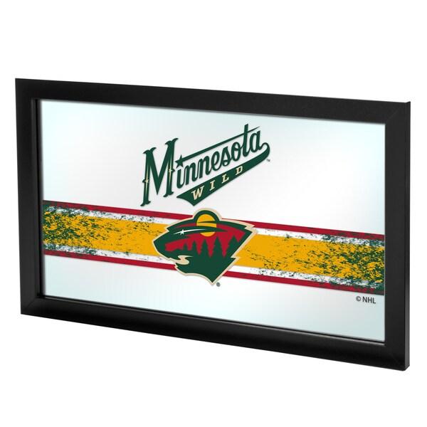 NHL Framed Logo Mirror - Minnesota Wild