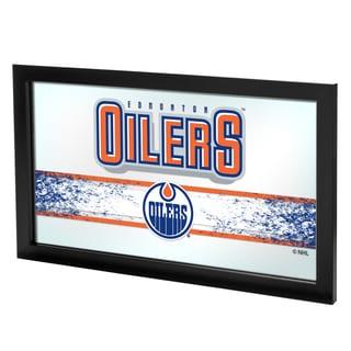 NHL Framed Logo Mirror - Edmonton Oilers