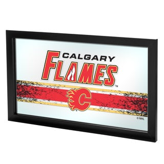 NHL Framed Logo Mirror - Calgary Flames