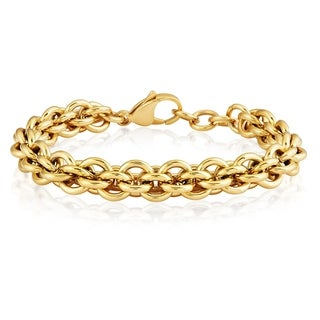 ELYA Stainless Steel Rolo Chain Bracelet - 7.5 inches (9 mm)