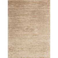Traditional Distressed Gold/ Beige Abstract Rug - 7'6 x 10'5