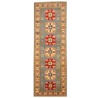 Herat Oriental Afghan Hand-knotted Tribal Kazak Wool Runner (2' x 5'10)