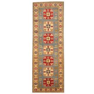 Handmade Herat Oriental Afghan Tribal Kazak Wool Runner - 2' x 5'10 (Afghanistan)