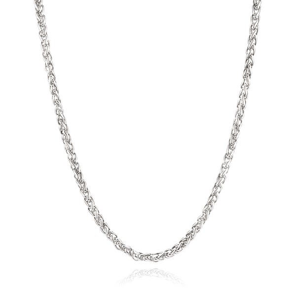 Men's Stainless Steel 24 Inch Spiga Chain Necklace (5 mm)