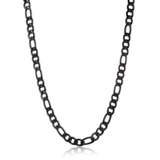 Crucible Men's Stainless Steel 24-inch Figaro Chain Necklace