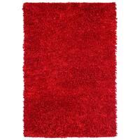 Red Shimmer Shag Rug - 4'x6'