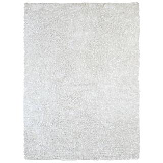 White Shimmer Shag (4'x6') Rug - 4' x 6'