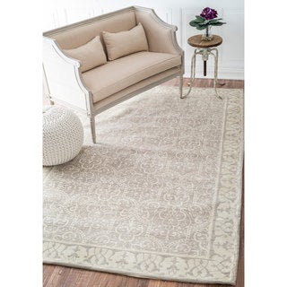 nuLOOM Traditional Dotted Trellis Tan Rug (9' x 12')