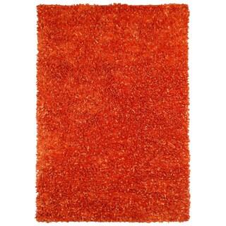 Orange Shimmer Shag (4'x6') Rug