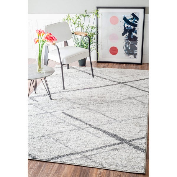 Nuloom Contermporary Striped Grey Rug 4 X 6 17767311