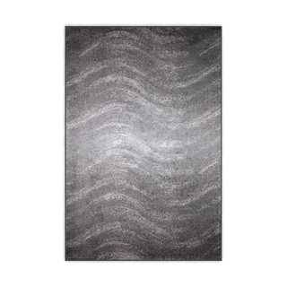 nuLOOM Contermporary Ombre Waves Grey Rug (4' x 6')