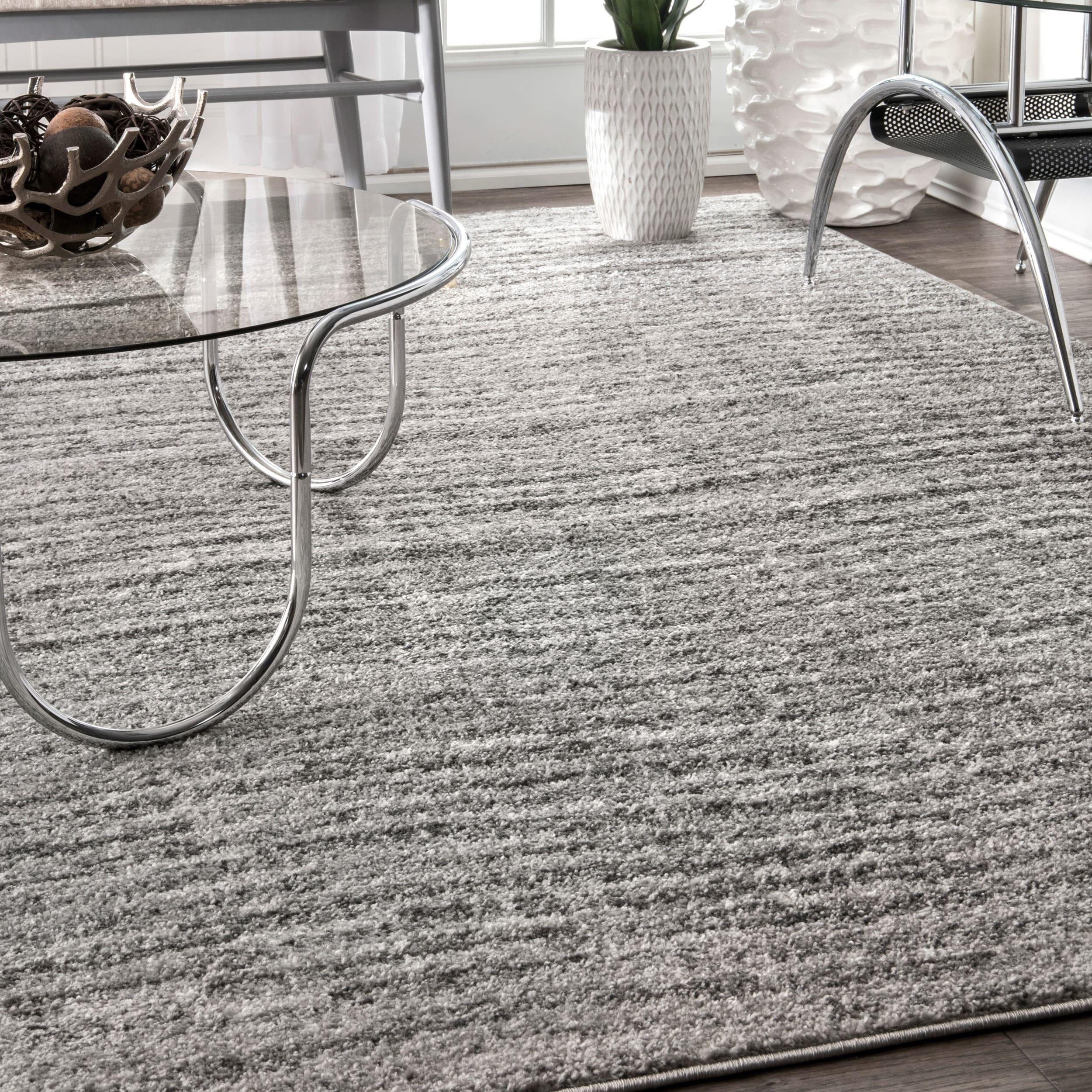 nuLOOM Contermporary Waves Solid Grey Rug (4' x 6') (Grey...