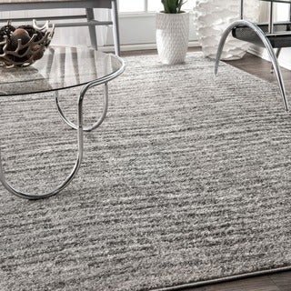 nuLOOM Contermporary Waves Solid Grey Rug (4' x 6')