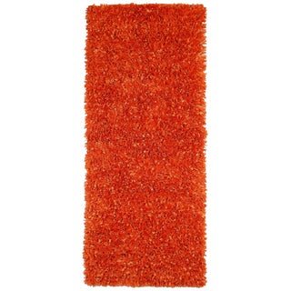 Orange Shimmer Shag (2'x5') Runner - 2' x 5'