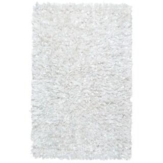 """White Shimmer Shag (30""""x50"""") Rug"""