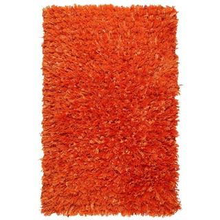 "Orange Shimmer Shag (21""x34"") Rug"