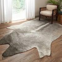 Rawhide Grey/ Ivory Rug (6'2 x 8'0) - 6'2 x 8'