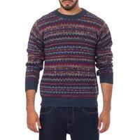 Handmade Men' Alpaca 'Colca Blue' Sweater (Peru)