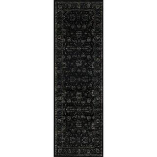 Francis Black Runner Rug (2'4 x 7'9)