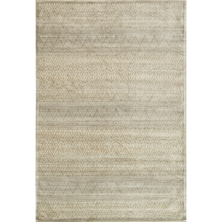 """Traditional Distressed Light Gold/ Grey Damask Rug - 9'2"""" x 12'2"""""""
