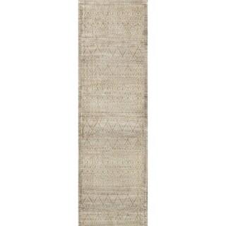Francis Slate/ Gold Runner Rug (2'4 x 7'9)