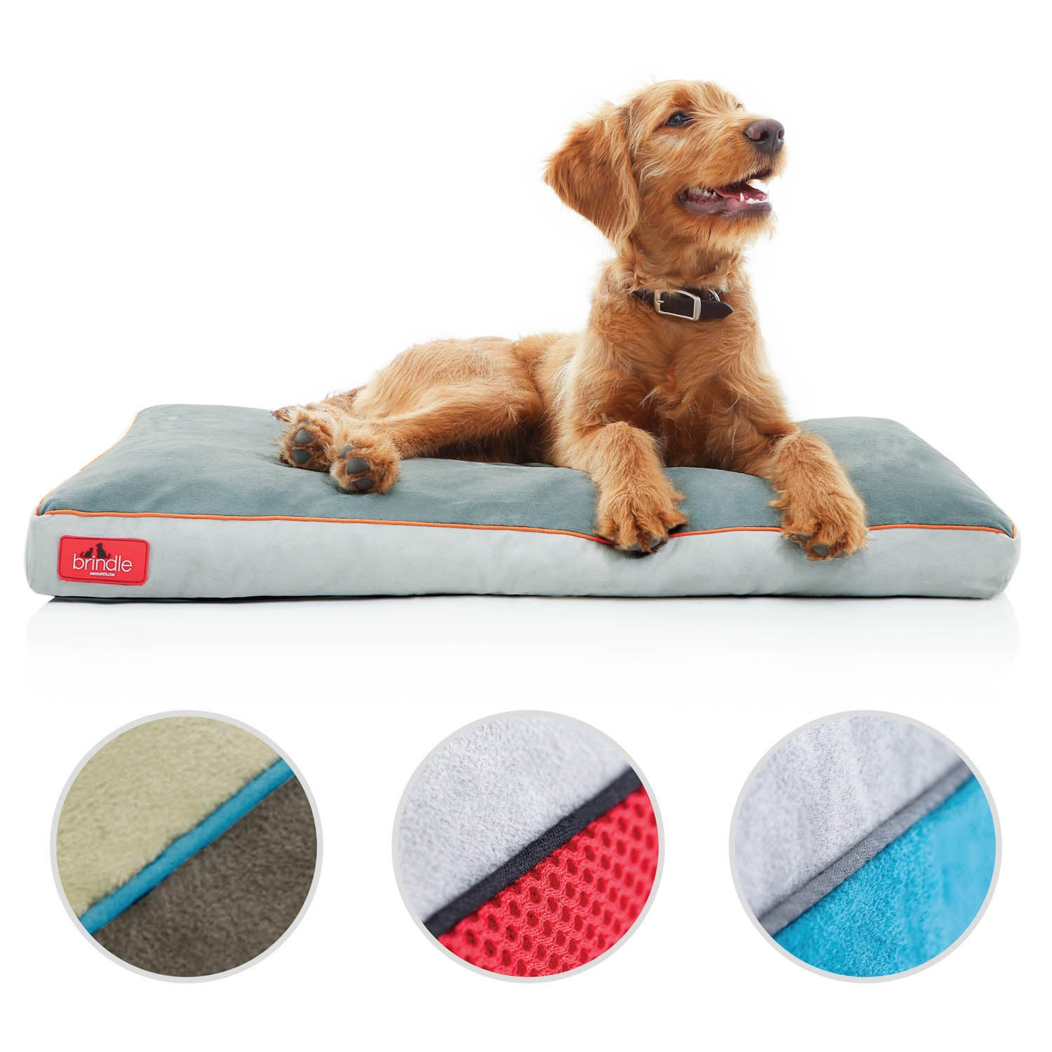 LARGE DOG BED WITH REMOVABLE ZIPPED COVER WASHABLE PET CUSHION CHECKED