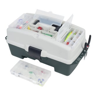 Wakeman Fishing 2-Tray Tackle Box 3 Removable Organizers