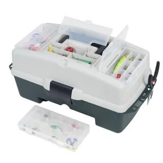 Wakeman Fishing 2-Tray Tackle Box 3 Removable Organizers