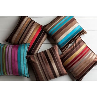 Decorative Stafford 22-inch Stripe Poly or Feather Down Filled Pillow