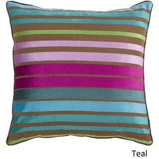 Decorative Stafford 22-inch Stripe Poly or Down Filled Pillow