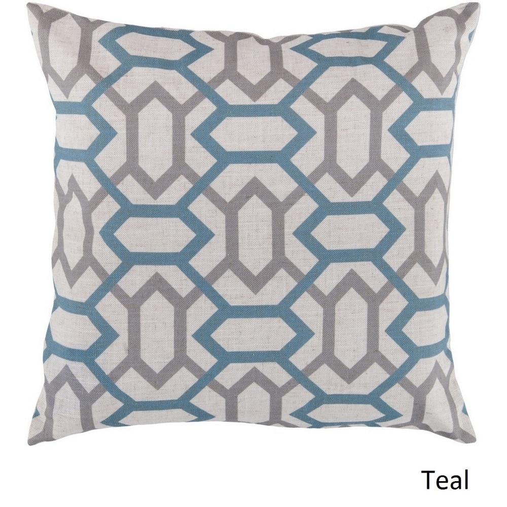 Shop Decorative St.Mawes 22-inch Trellis Poly or Feather Down Filled Pillow - 10708133