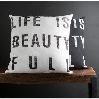 Porch & Den Norwaldo 'Life is Beauty Full' 22-inch Print Pillow