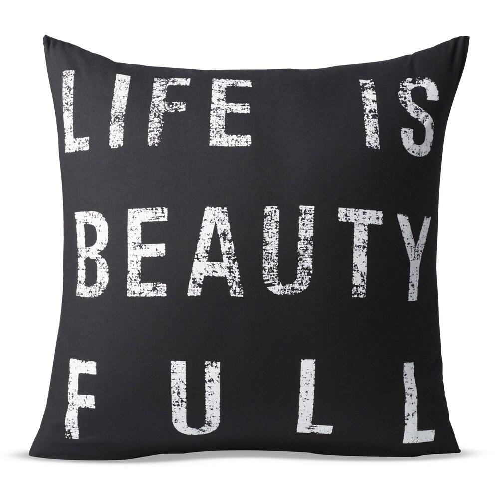 Shop Porch & Den Norwaldo 'Life is Beauty Full' 22-inch Print Pillow - 20881831